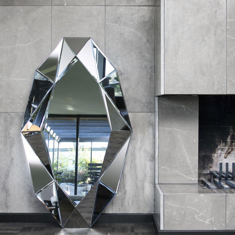 Καθρέφτης Diamond XL MDF/Καθρέφτης 82x140 εκ.