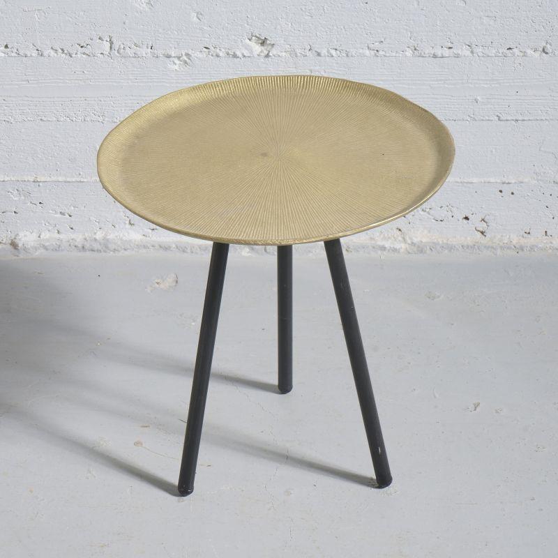 Τραπέζι Βοηθητικό Μεταλλικό Χρυσό 41x41x40 εκ.
