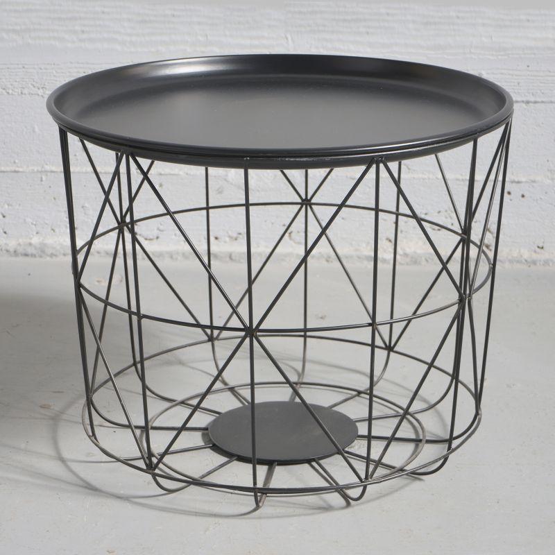 Τραπέζι Σιδερένιο Μαύρο 35x35x26 εκ.