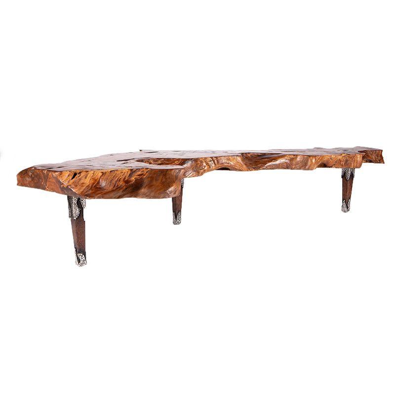 Τραπέζι Σαλονιού Teak Καφέ 250x50x45 εκ.