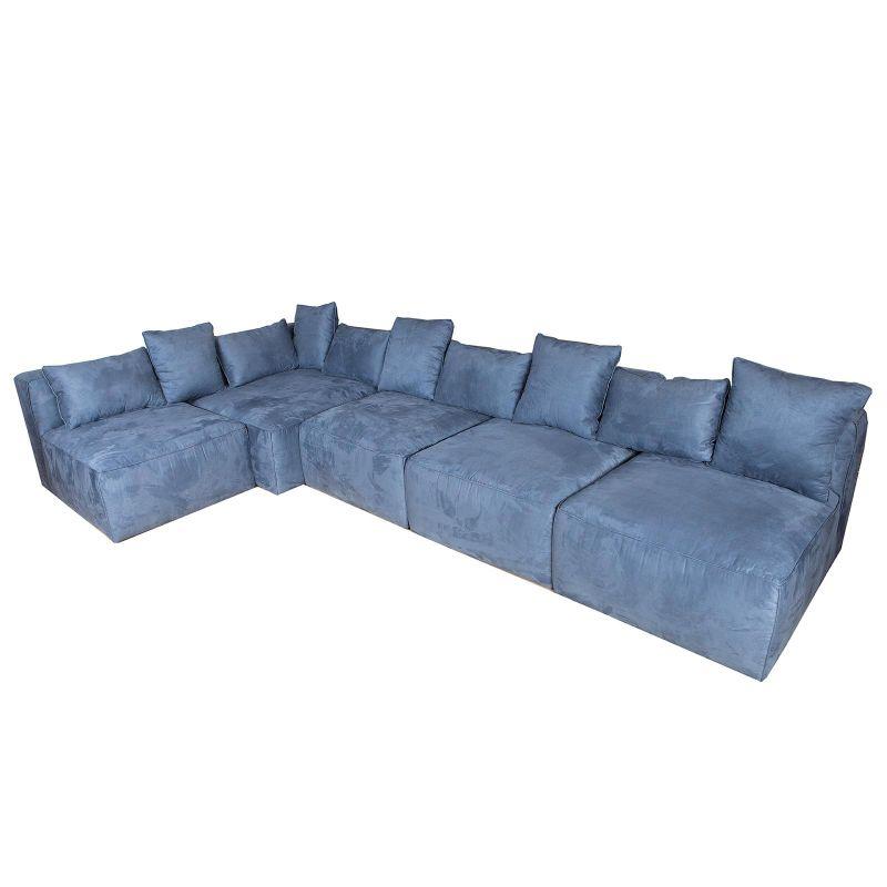 Καναπές Modular Μπλε 395x100x70 εκ.