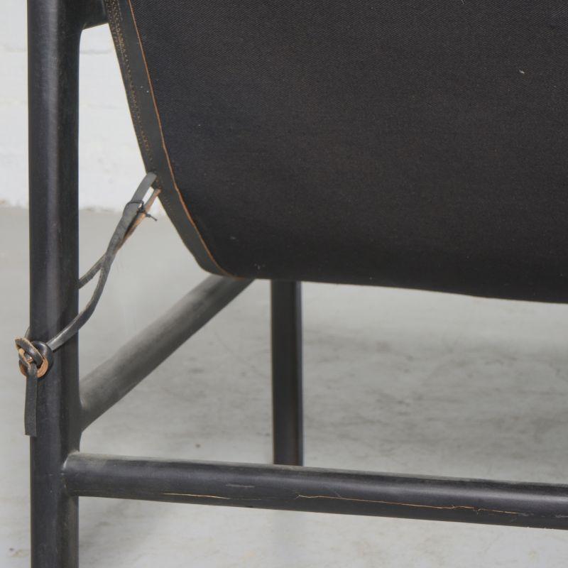 Πολυθρόνα Δερμάτινη Teak Μαύρη 63x70x88 εκ.