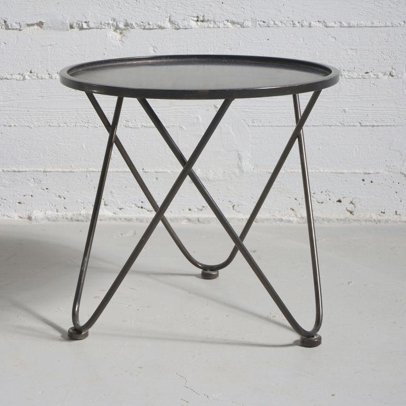 Τραπέζι Μεταλλικό Μαύρο 42,5x42,5x40 εκ.