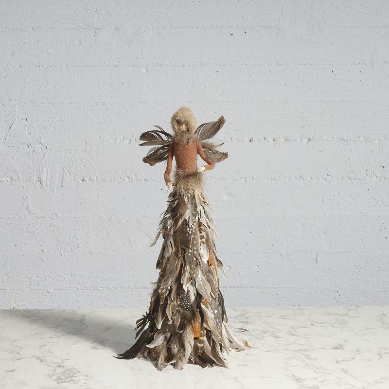 Διακοσμητικός Άγγελος με Φτερά Καφέ 35 εκ.