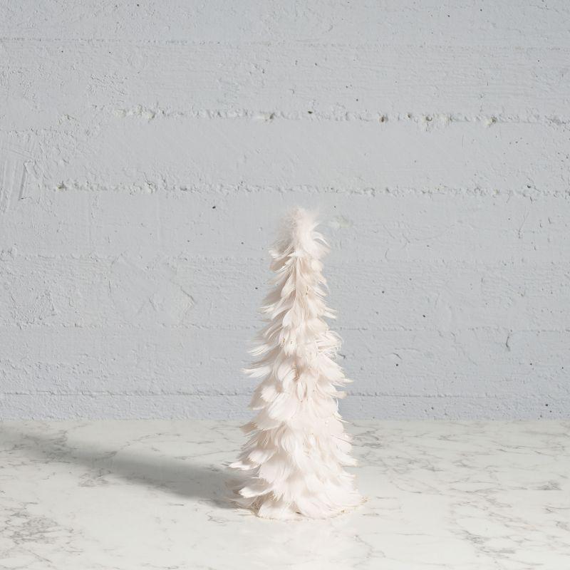 Χριστουγεννιάτικο Δέντρο με Φτερά Ροζ 31 εκ.