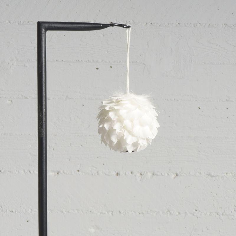 Χριστουγεννιάτικη Μπάλα με Φτερά Άσπρη Ø13 εκ.