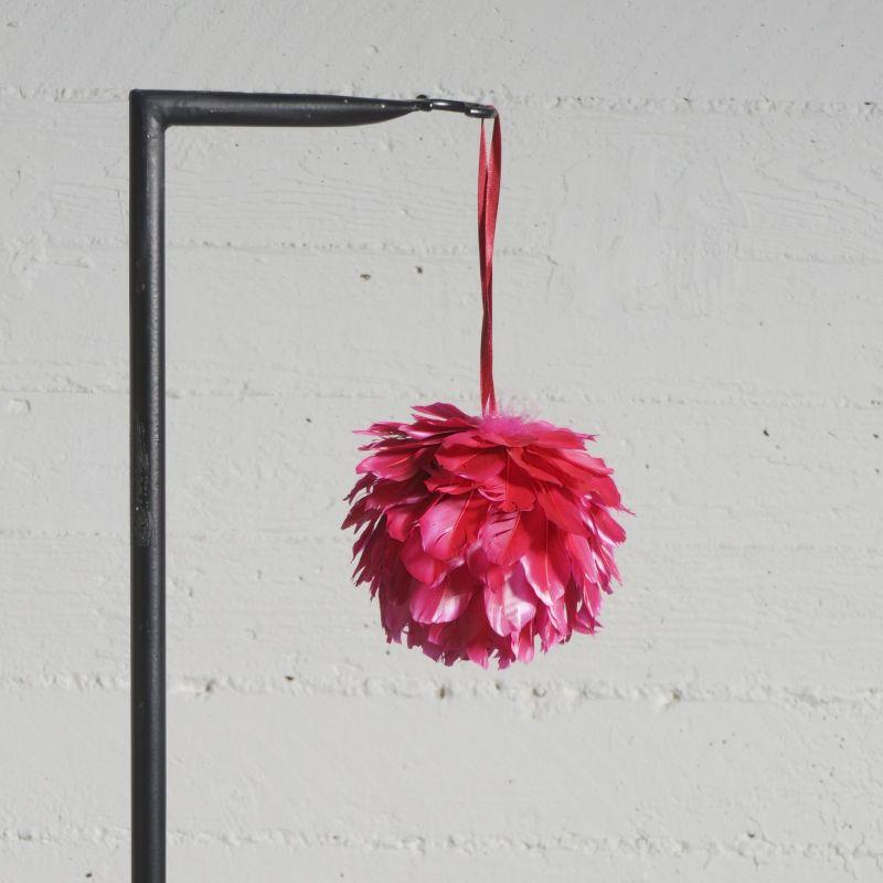 Χριστουγεννιάτικη Μπάλα με Φτερά Κόκκινη Ø13 εκ.