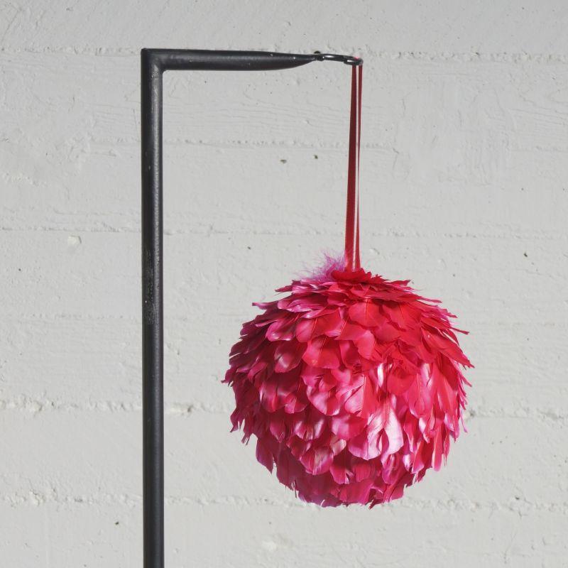 Χριστουγεννιάτικη Μπάλα με Φτερά Κόκκινη Ø17 εκ.