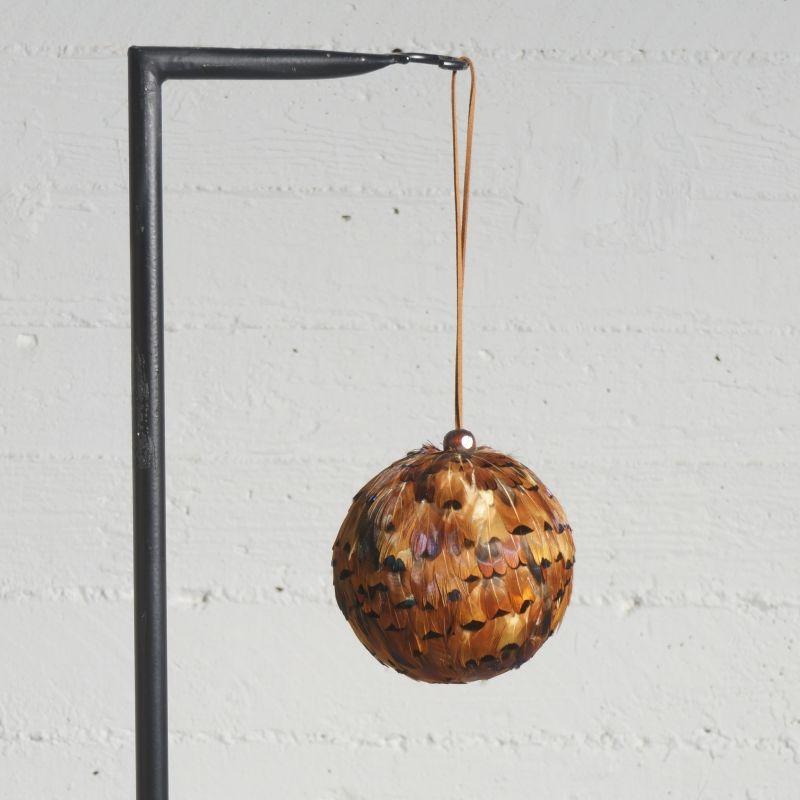 Χριστουγεννιάτικη Μπάλα με Φτερά Καφέ Ø12 εκ.