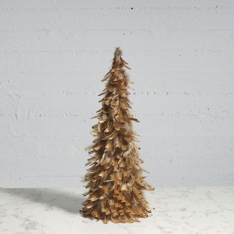 Χριστουγεννιάτικο Δέντρο με Φτερά Καφέ 60 εκ.
