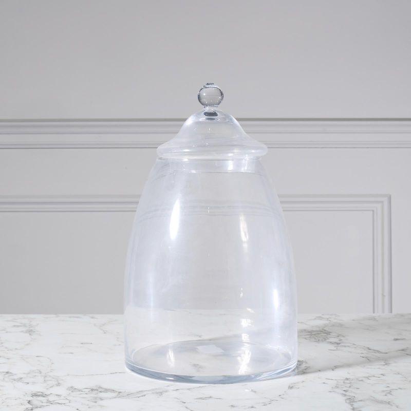 Βάζο Γυάλινο με Καπάκι Διάφανο 33,5 εκ.