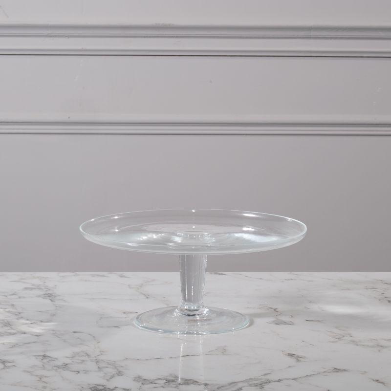 Πιατέλα Κέικ Γυάλινη Διάφανη 25x25x12 εκ.