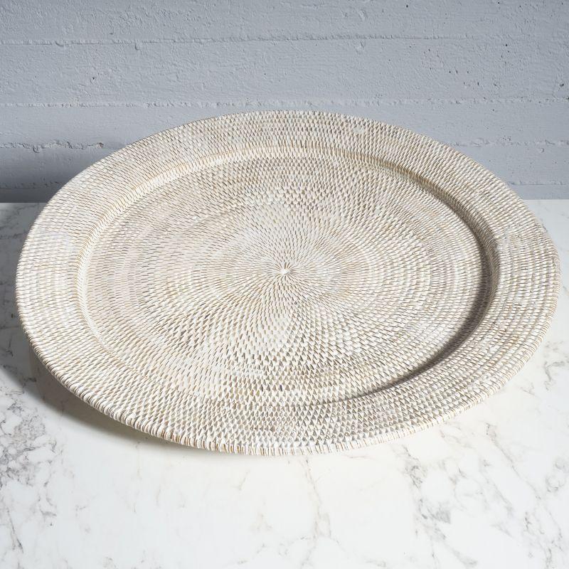 Δίσκος Σερβιρίσματος Ρατάν Λευκός Ø70 εκ.