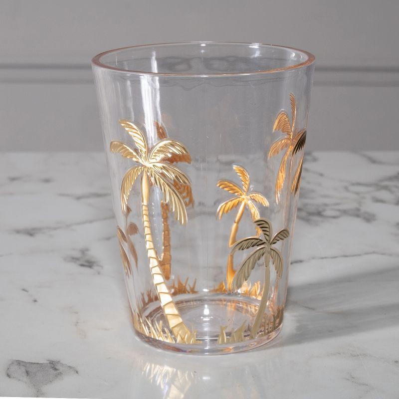 Ποτήρι Νερού Πλαστικό Φοίνικες Χρυσό 9,3x9,3x12 εκ.