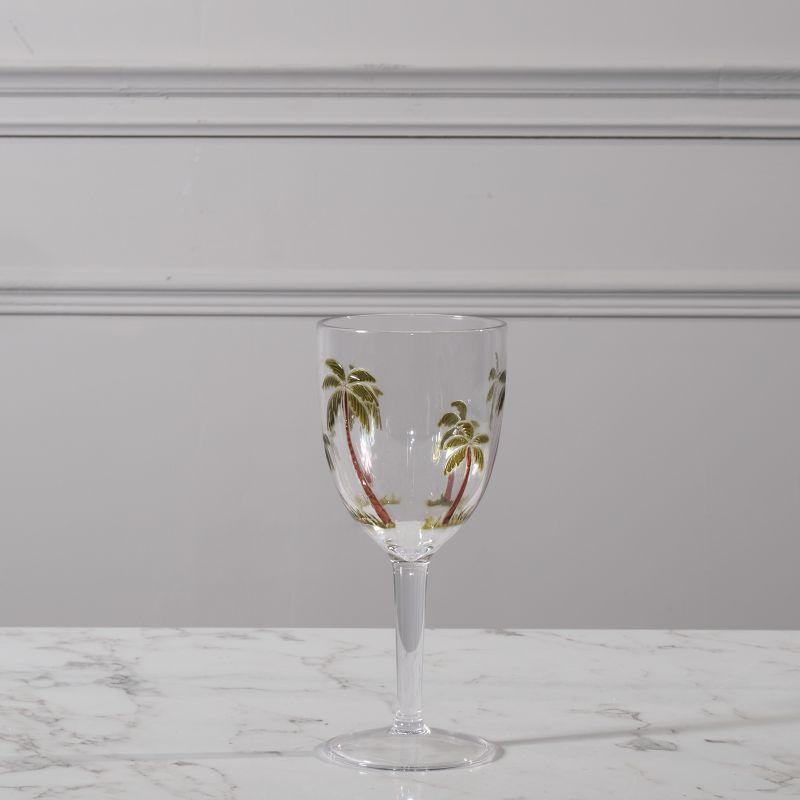 Ποτήρι Κρασιού Φοίνικες Πράσινο 9x9x20,5 εκ.
