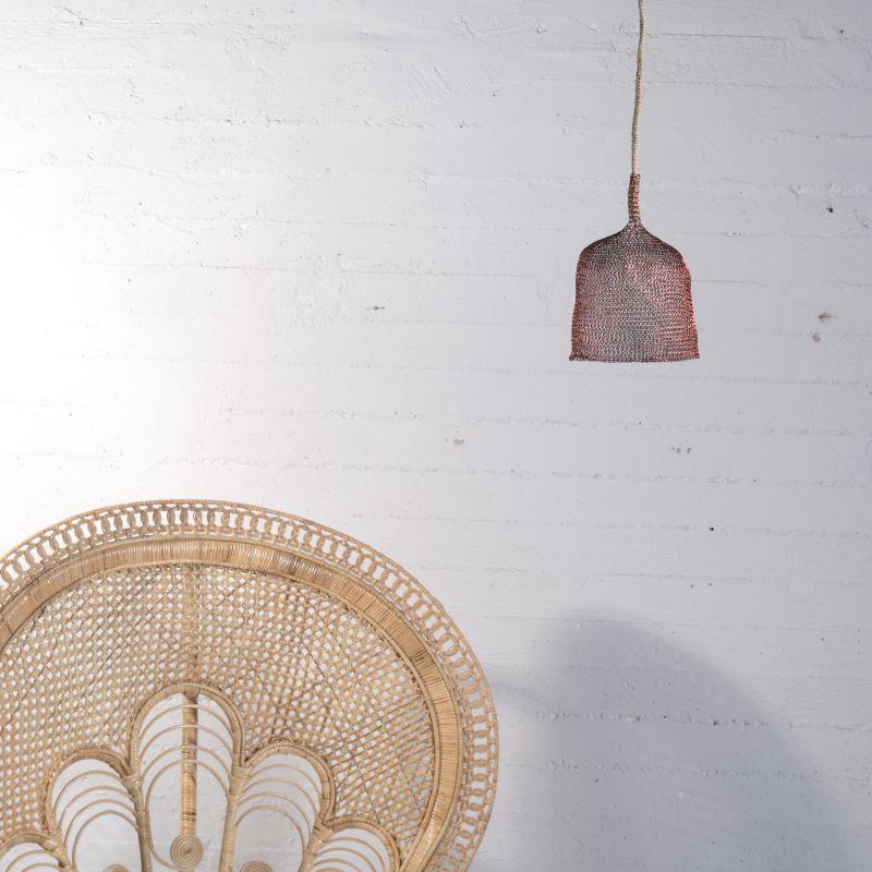 Φωτιστικό Οροφής Συρμάτινο Χάλκινο 15x15 εκ.