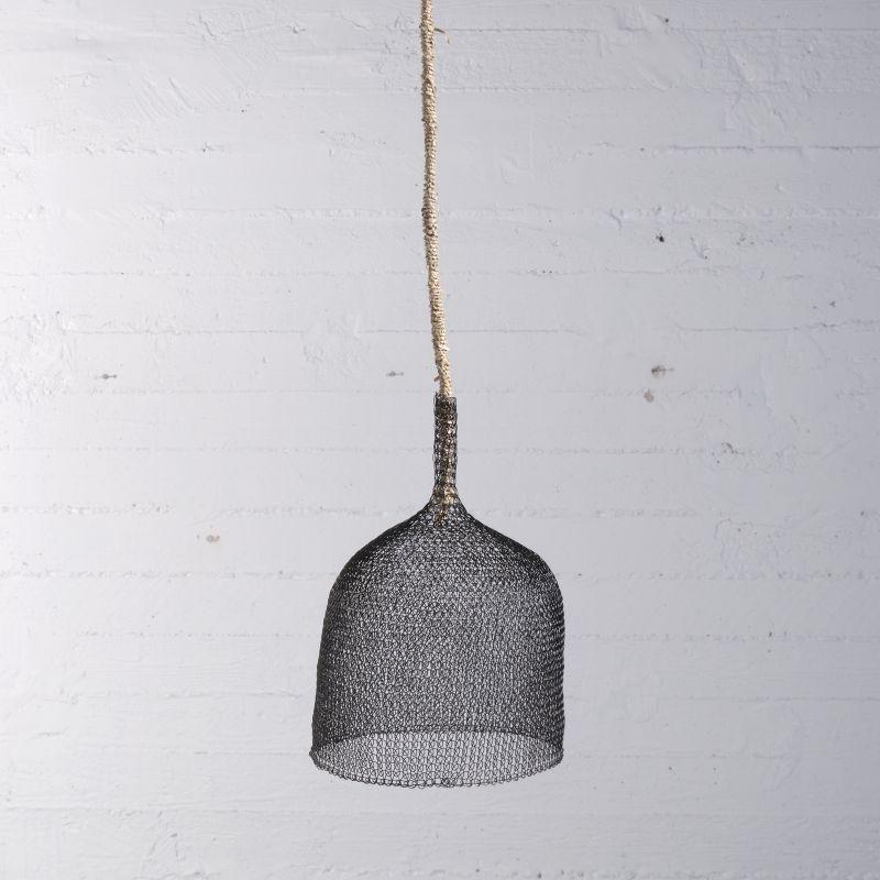 Φωτιστικό Οροφής Συρμάτινο Μαύρο 15x15 εκ.