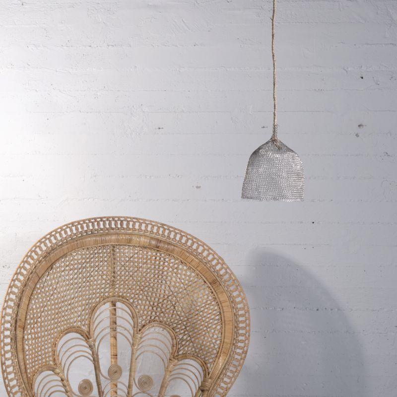 Φωτιστικό Οροφής Συρμάτινο Ασημί 15x15 εκ.