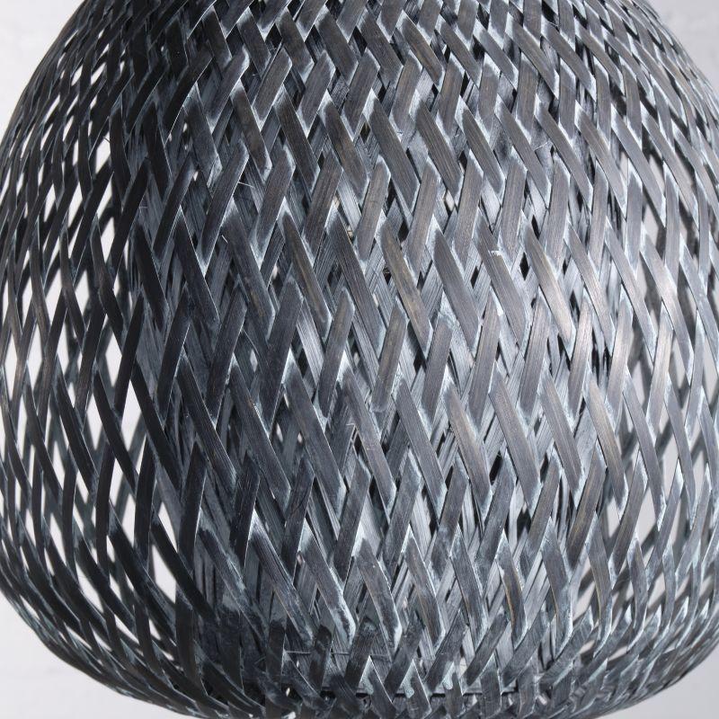 Φωτιστικό Οροφής Ρατάν Γκρι 33x33x29 εκ.