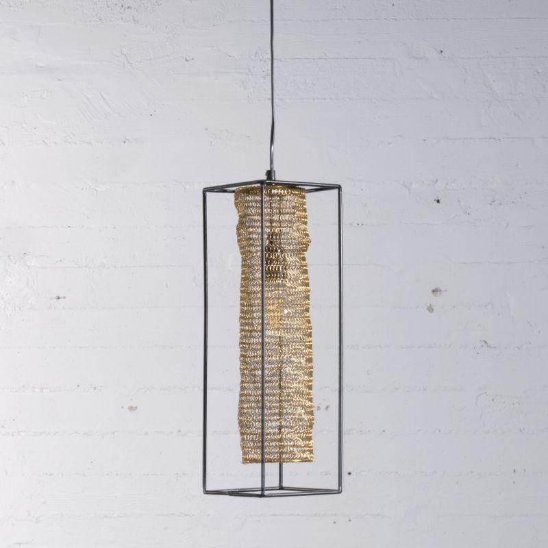 Φωτιστικό Οροφής Μεταλλικό Χρυσό Ε27 45 εκ.