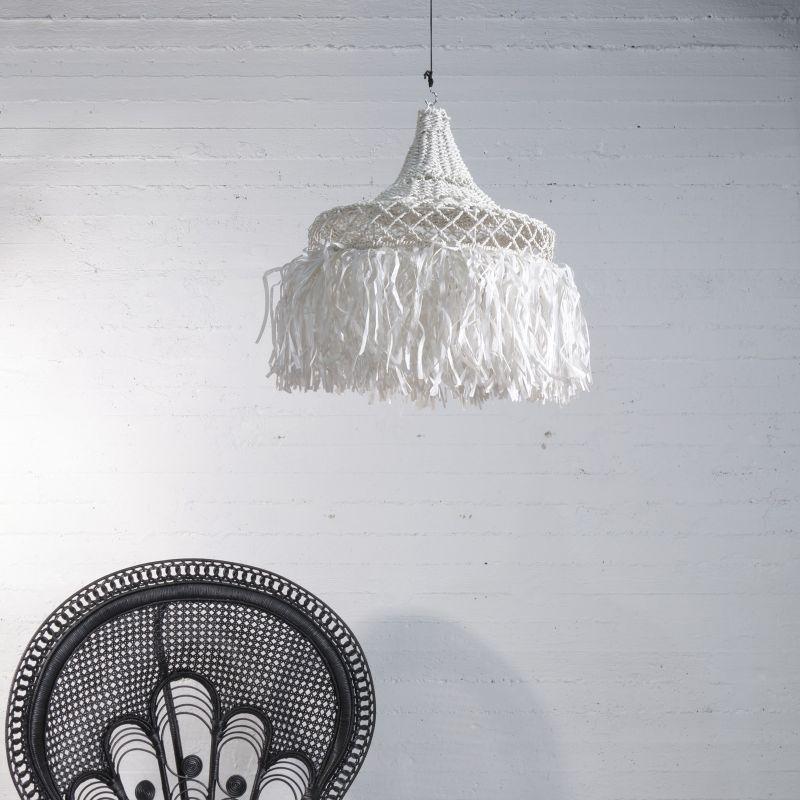 Φωτιστικό Οροφής Ρατάν Λευκό 50x50x60 εκ.