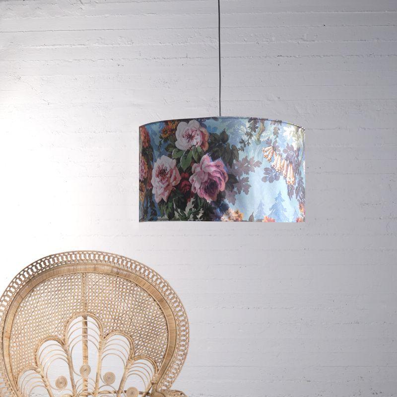 Φωτιστικό Οροφής Βελούδινο Floral Ε27 70x70x38 εκ.