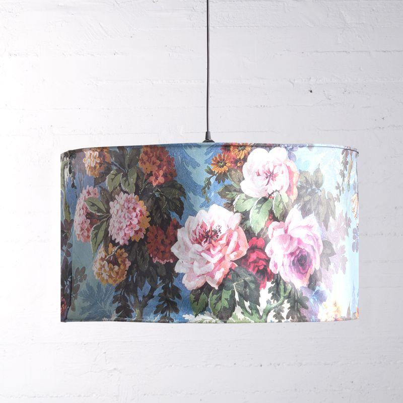 Φωτιστικό Οροφής Βελούδινο Floral 70x70x38 εκ.