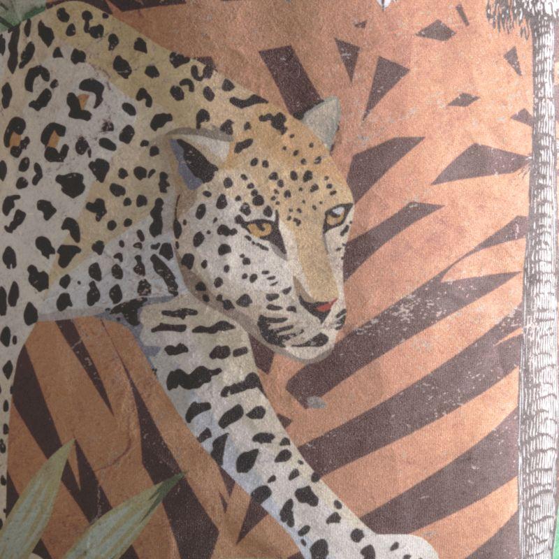 Φωτιστικό Οροφής Βελούδινο Animal Print Ε27 50x50x56 εκ.