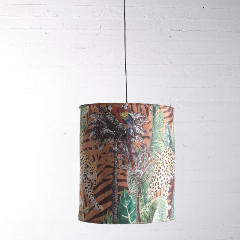 Φωτιστικό Οροφής Βελούδινο Animal Print 50x50x56 εκ.