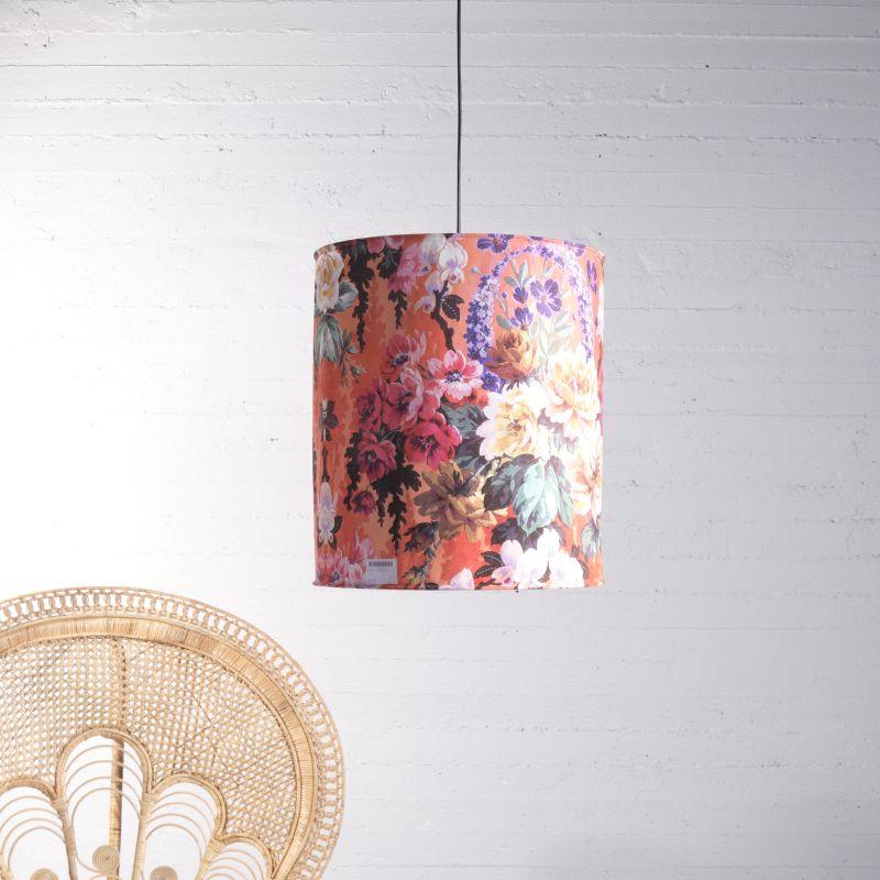 Φωτιστικό Οροφής Βελούδινο Floral Ε27 50x50x56 εκ.