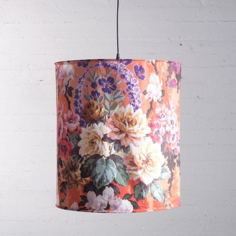 Φωτιστικό Οροφής Βελούδινο Floral 50x50x56 εκ.