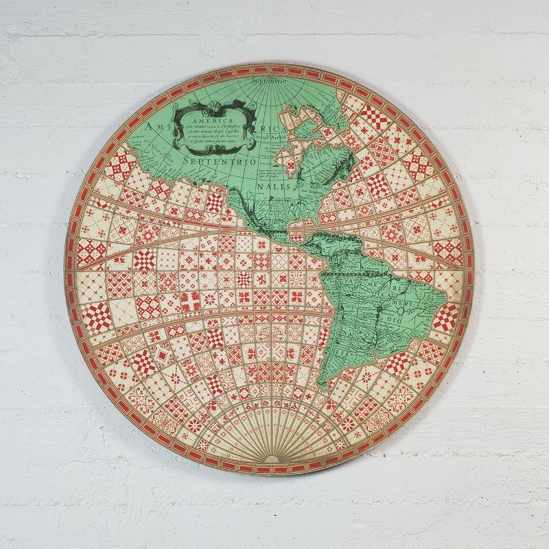 Πίνακας Χάρτης Στρογγυλός