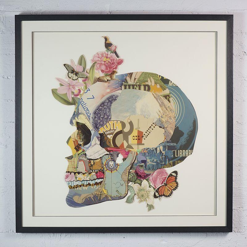 Πίνακας Κολάζ Νεκροκεφαλή 100x100 εκ.