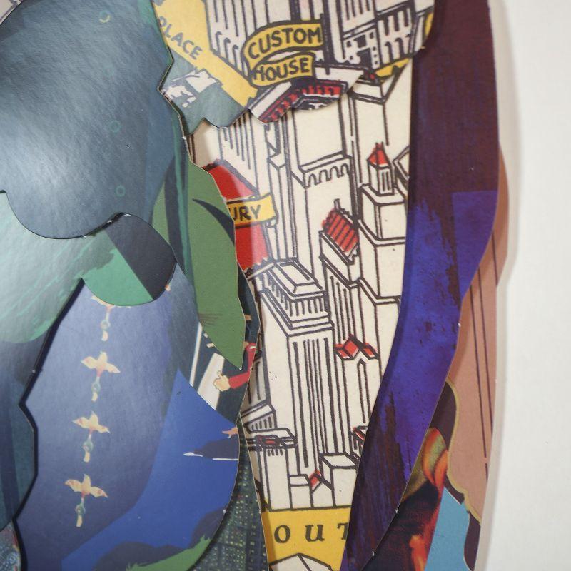 Πίνακας Κολάζ Παγώνι 130x65 εκ.