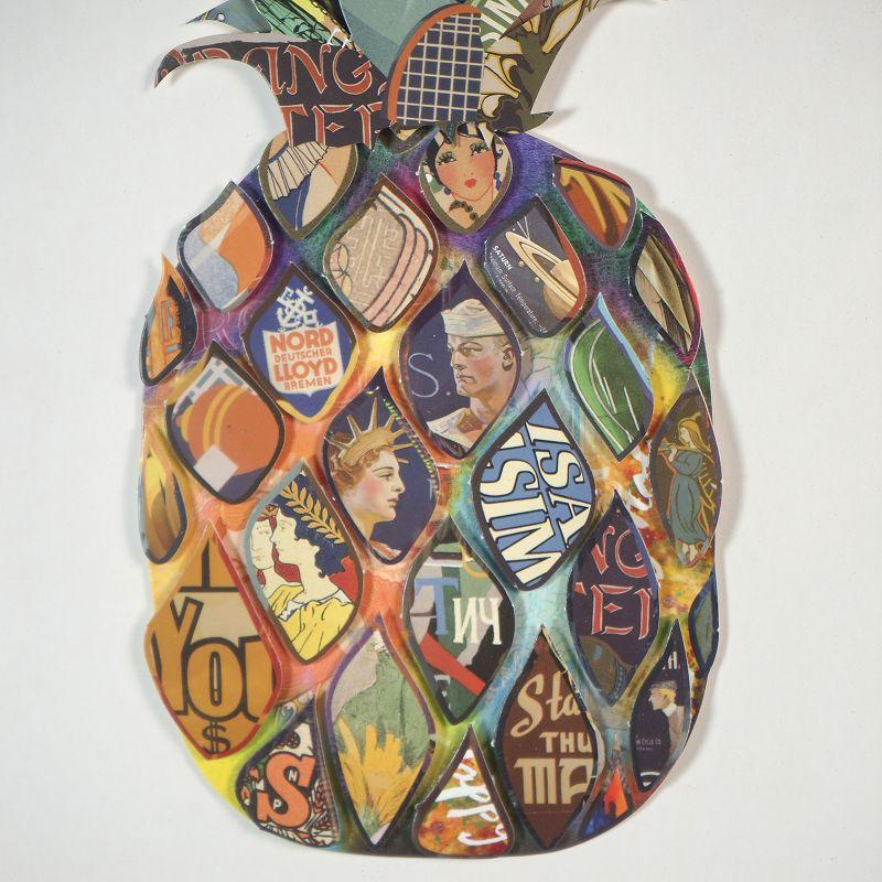 Πίνακας Κολάζ Ανανάς 30x50 εκ.