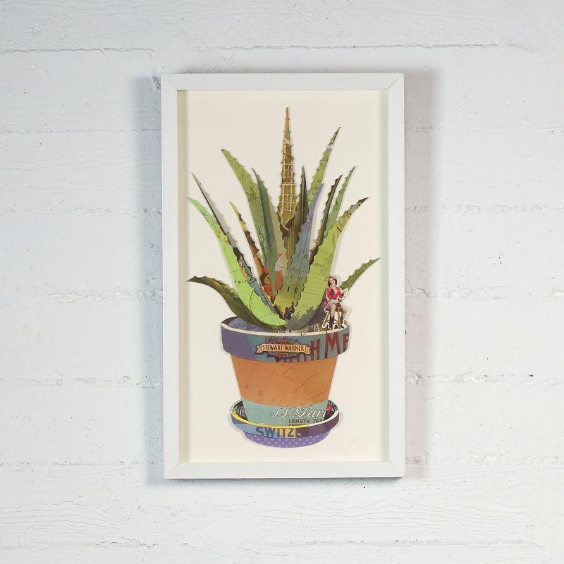 Πίνακας Κολάζ Αλόη 30x50 εκ.