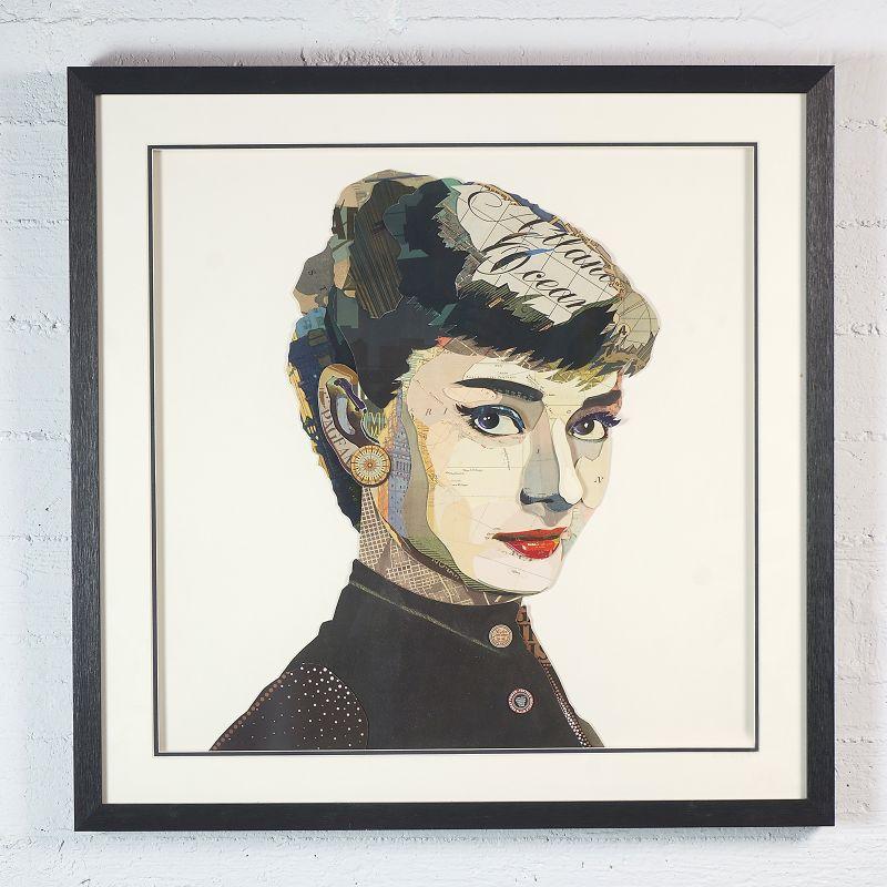 Πίνακας Κολάζ Audrey Hepburn 75x75 εκ.