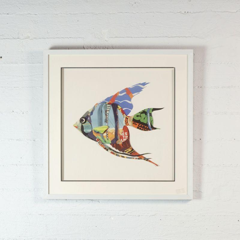 Πίνακας Κολάζ Αγγελόψαρο 60x60 εκ.