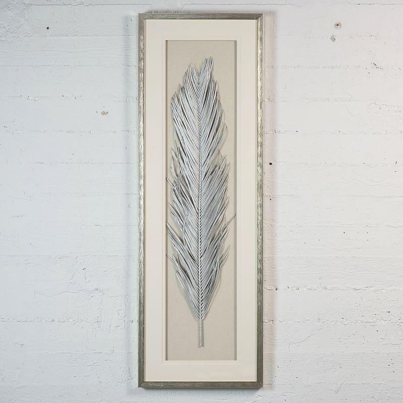 Πίνακας Φτερό Ασημί 40x120 εκ.