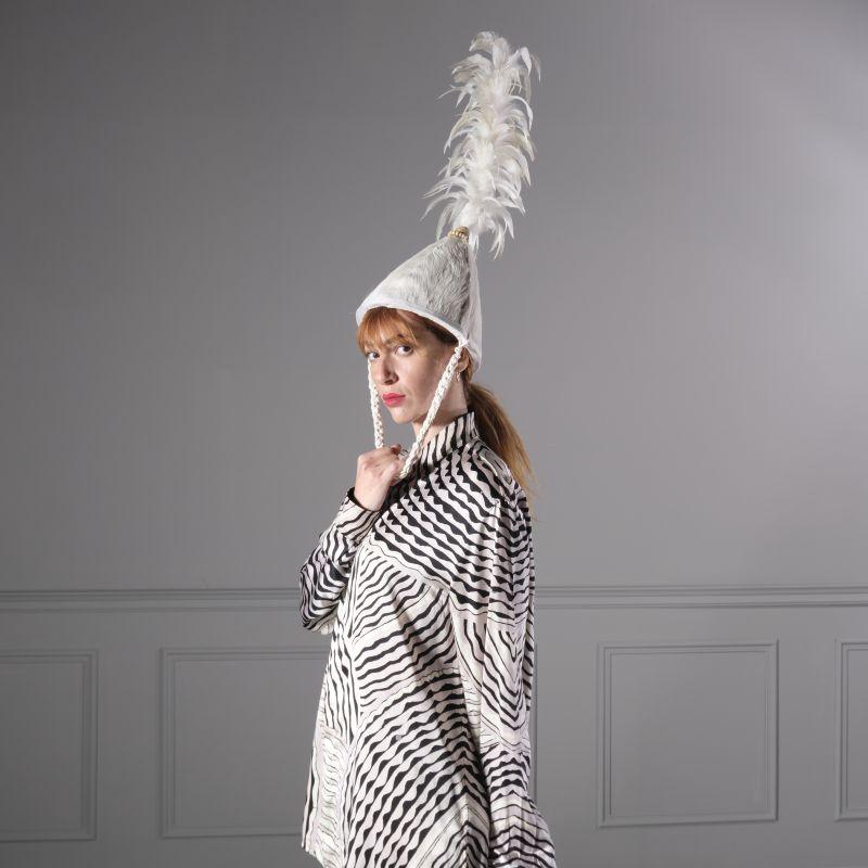 Διακοσμητικό Καπέλο σε Σταντ Λευκό 120 εκ.