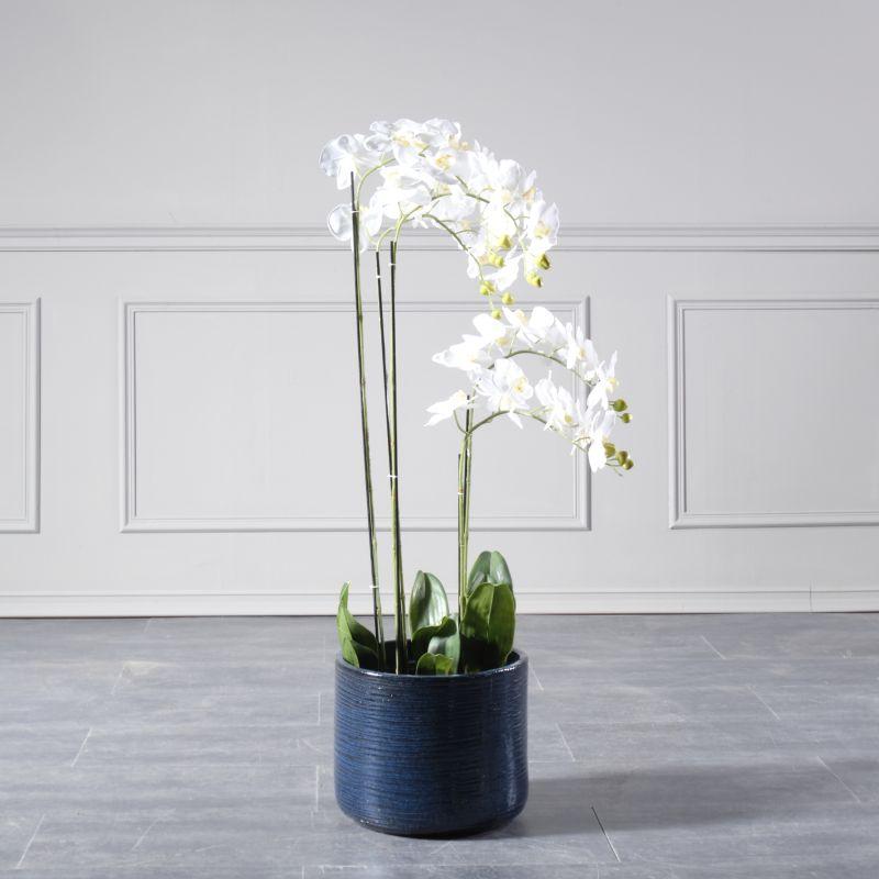 Τεχνητό Φυτό Ορχιδέα Λευκή 115 εκ.