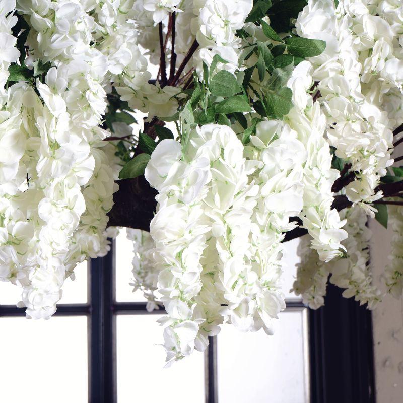 Τεχνητό Δέντρο Γλυσίνια Λευκή 320 εκ.