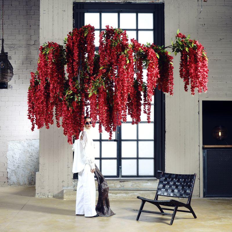Τεχνητό Δέντρο Γλυσίνια Κόκκινη 340 εκ.
