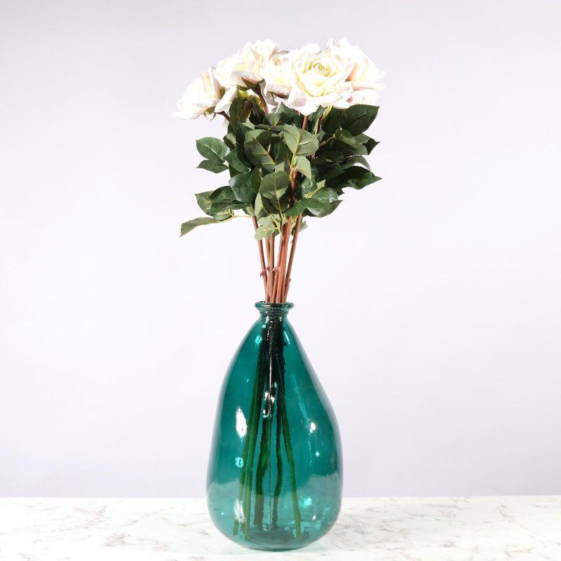 Τεχνητό Κλωνάρι Τριαντάφυλλο Λευκό 75 εκ.