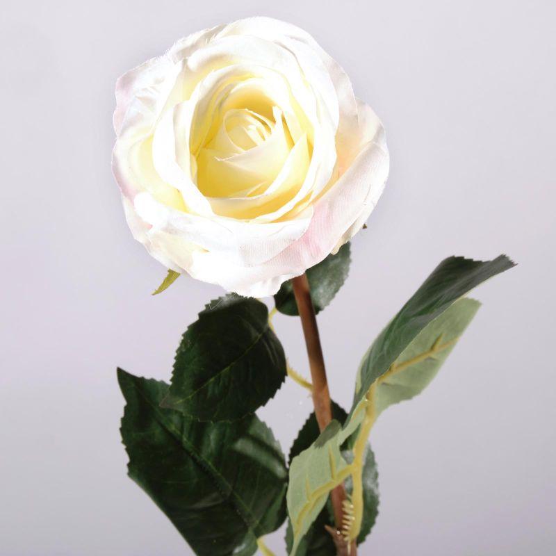 Τεχνητό Κλωνάρι Τριαντάφυλλο Λευκό 54 εκ.