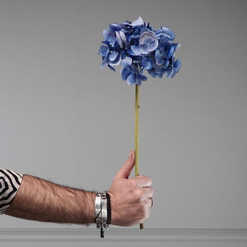 Τεχνητό Κλωνάρι Ορτανσία Μπλε 52 εκ.