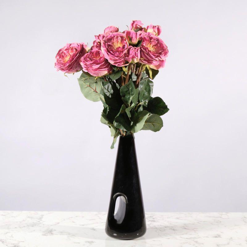 Τεχνητό Κλωνάρι Τριαντάφυλλο Ροζ 61 εκ.