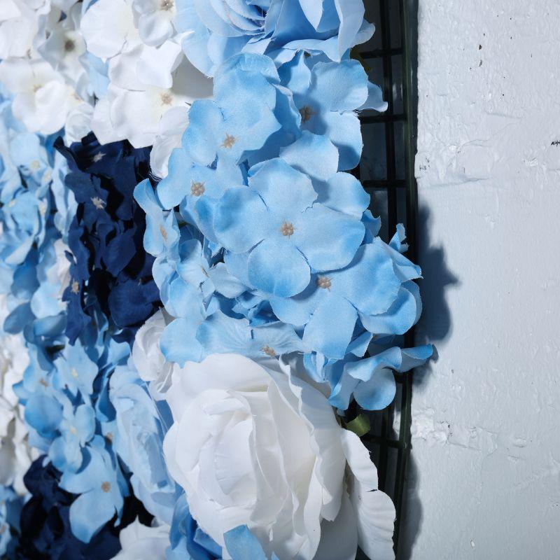 Τεχνητή Φυλλωσιά Τριαντάφυλλο με Ορτανσία Γαλάζια 50Χ50 εκ.