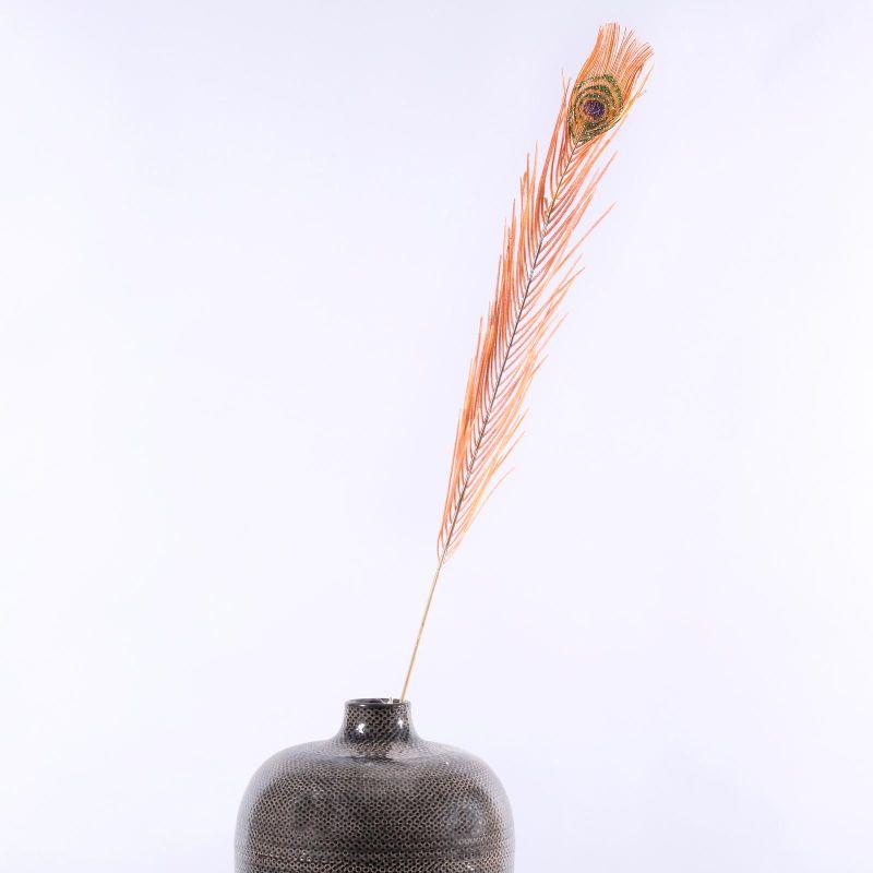 Τεχνητό Φτερό Παγώνι Πορτοκαλί 102 εκ.