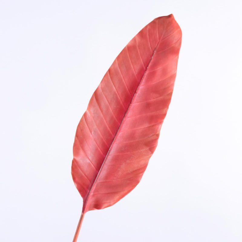 Τεχνητό Φύλλο Πουλί του Παραδείσου Κόκκινο 100 εκ.